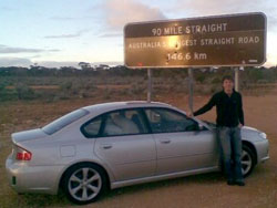 Driving across the Nullarbor Plain