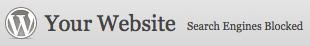 Wordpress 3.1 Dashboard Header Screenshot