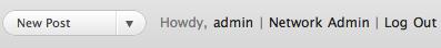 Network Admin Dashboard Link Screenshot