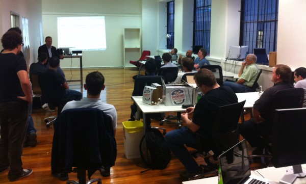 The Crowd Listens Intently at the AWS Melbourne Meetup