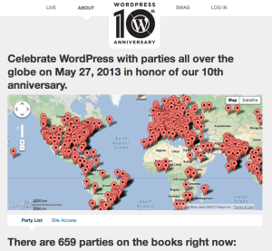 WordPress' 10th Anniversary Parties